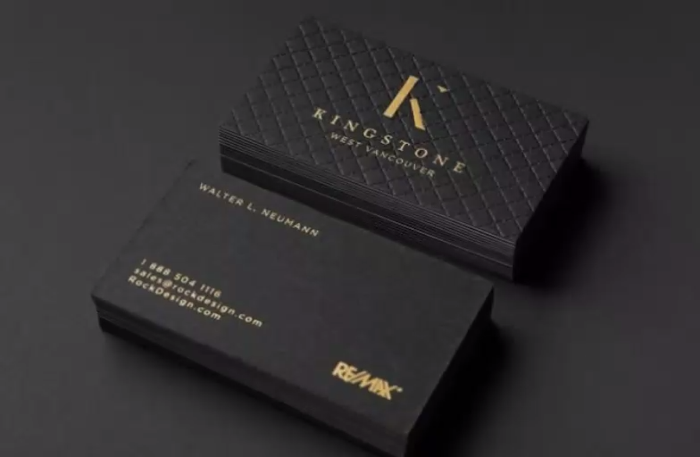 Triplex Business Cards Video Business Card Design Black Business Card Design Creative Graphic Design Business Card