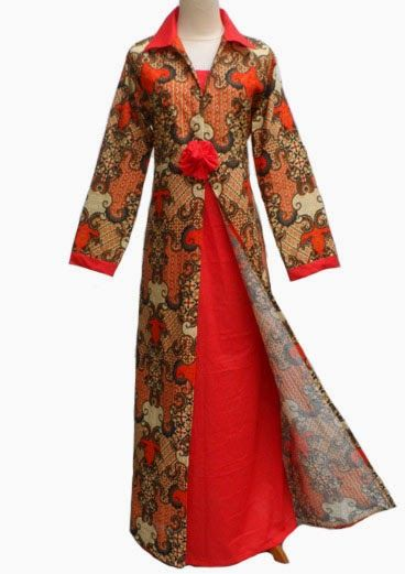 Baju Batik Kombinasi Polos Model Baju Batik Model