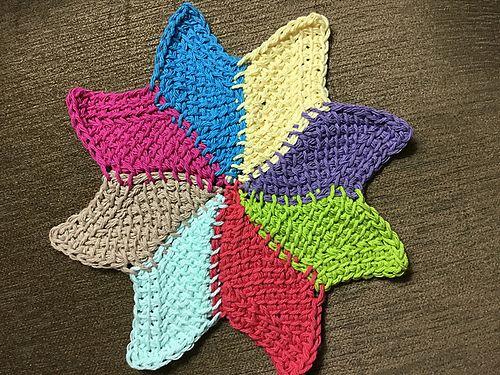 Ravelry Caribbean Star Dishcloth Pattern By Dela Wilkins Crochet