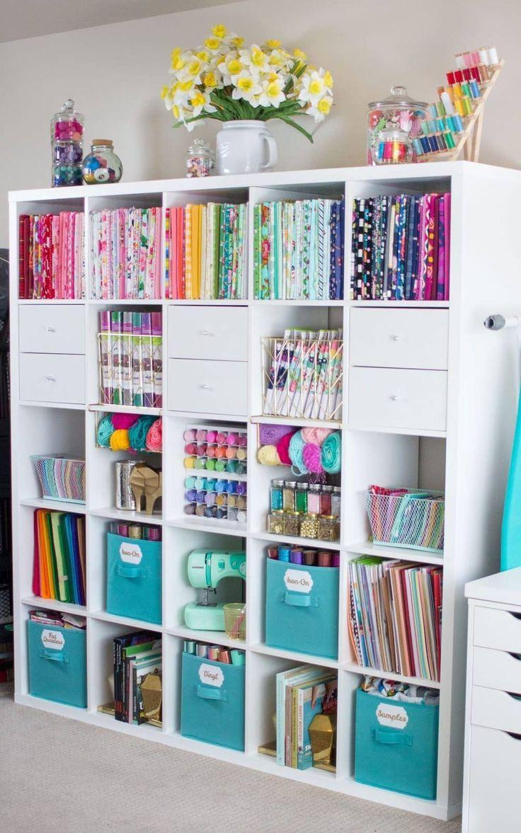 27 Clever Craft Storage Ideas