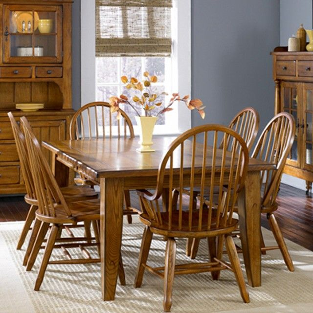 Oak Treasures Dining Room 7 Piece Set Oak Table With 4 Oak Side Prepossessing Dining Room Chairs Oak Design Decoration