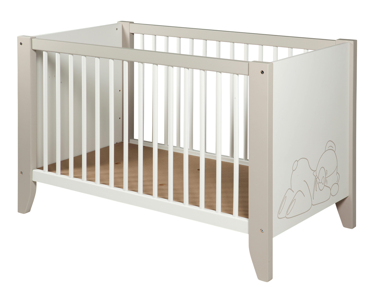 lit b b 60 x 120 cm ourson blanc et marron clair lits but chambre b b enfant pinterest. Black Bedroom Furniture Sets. Home Design Ideas