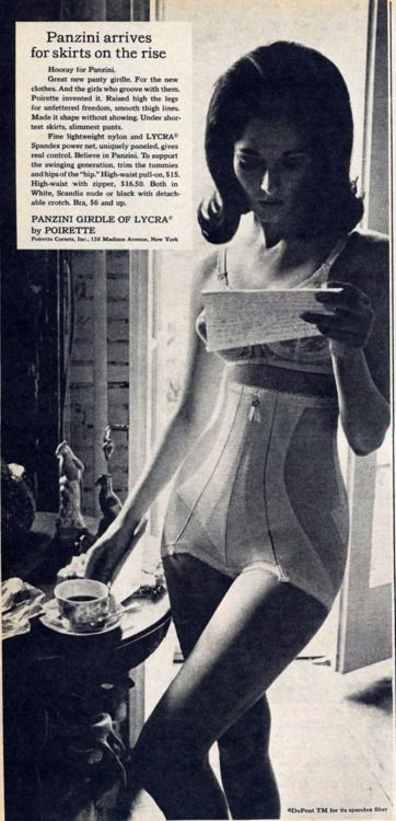9328ed1cc76 1960s Poirette Bra and Girdle Pretty Lingerie