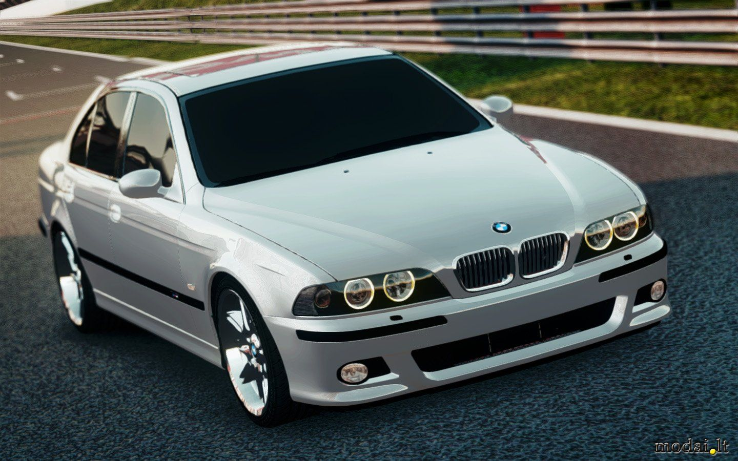 bmw e39 silver with dark window tinting polished rims. Black Bedroom Furniture Sets. Home Design Ideas