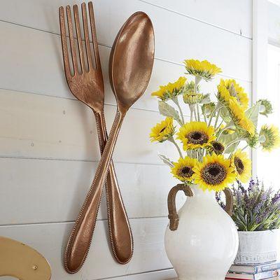 Spoon Wall Decor Copper Copper Wall Decor Bistro Kitchen Decor Country Kitchen Decor