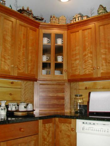 Upper Diagonal Wall Cabinet Corner Kitchen