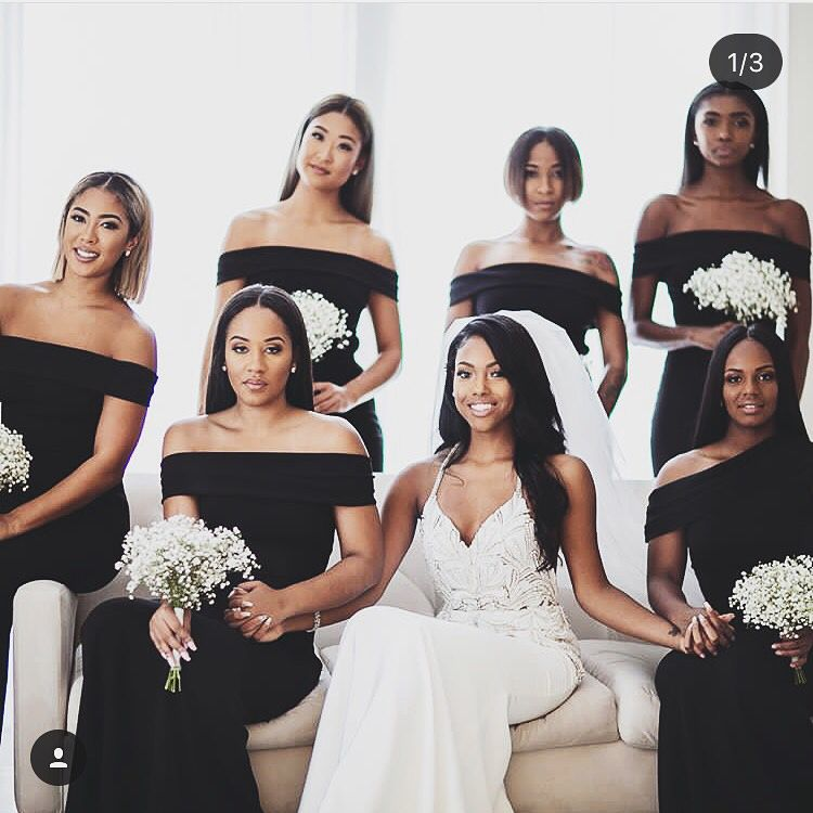 Beautiful Elegant Black Katie May Bridesmaid Dresses Shop This Look At Your Local Bella Bridesmaids Ht Black Bridesmaid Dresses Black Bridesmaids Bridesmaid