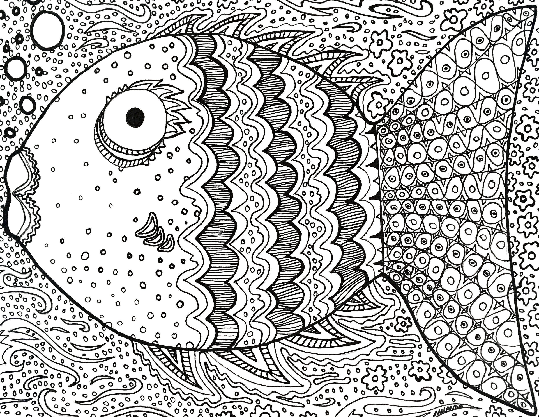 Fish Coloring Sheet in 2020   Coloring sheets, Coloring ...