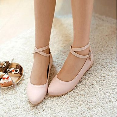 Womens Shoes PU Summer Comfort Flats For Casual Black Green Blushing Pink   Oxfords       Footwear and Graduation dresses