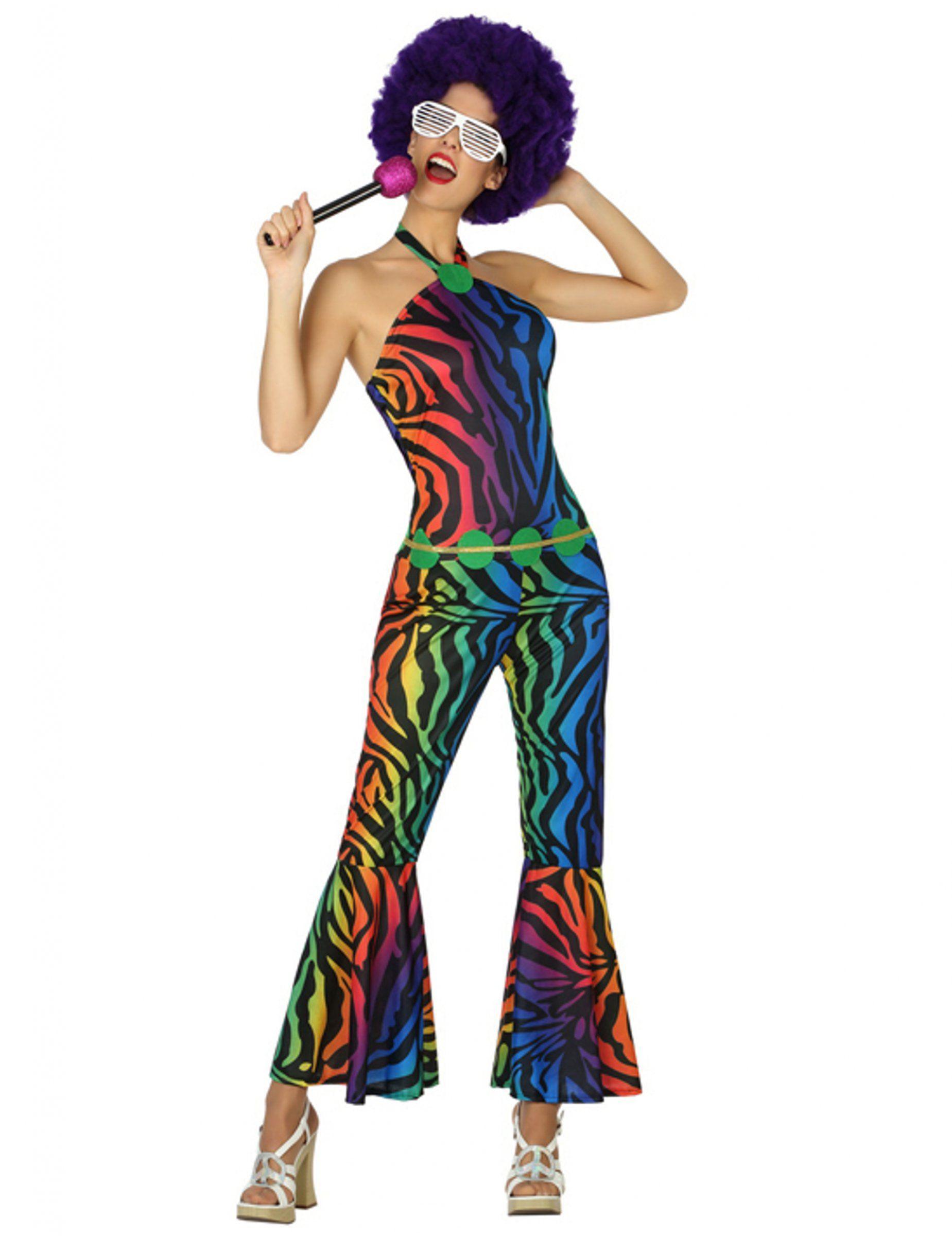 Disfraz disco leopardo multicolor mujer  Este disfraz disco leopardo para  mujer incluye un traje y da37da5321fb