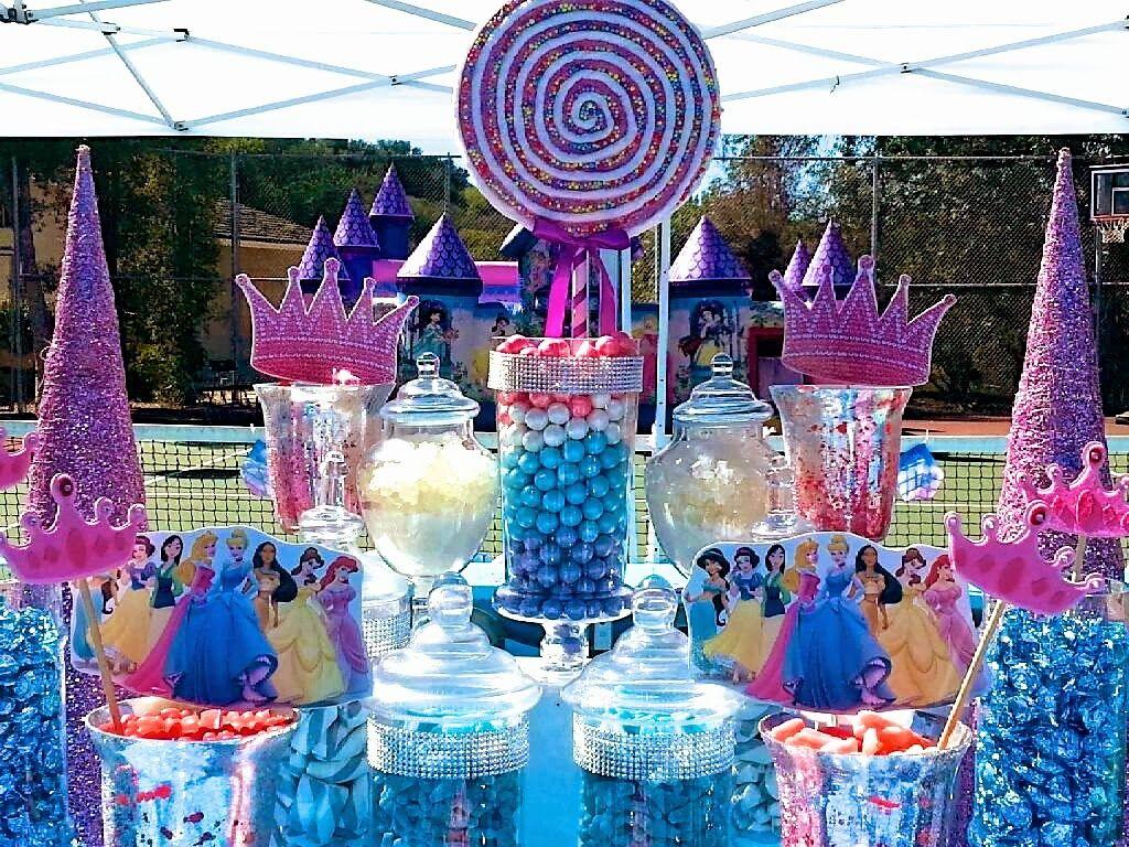 Disney Princess Candy Buffet Ideas Disney Princess Party Favors Disney Princess Birthday Princess Theme Party