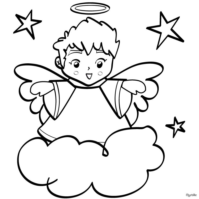 Free Printable Christmas Angel Colouring Pages Colorful Cartoon ...