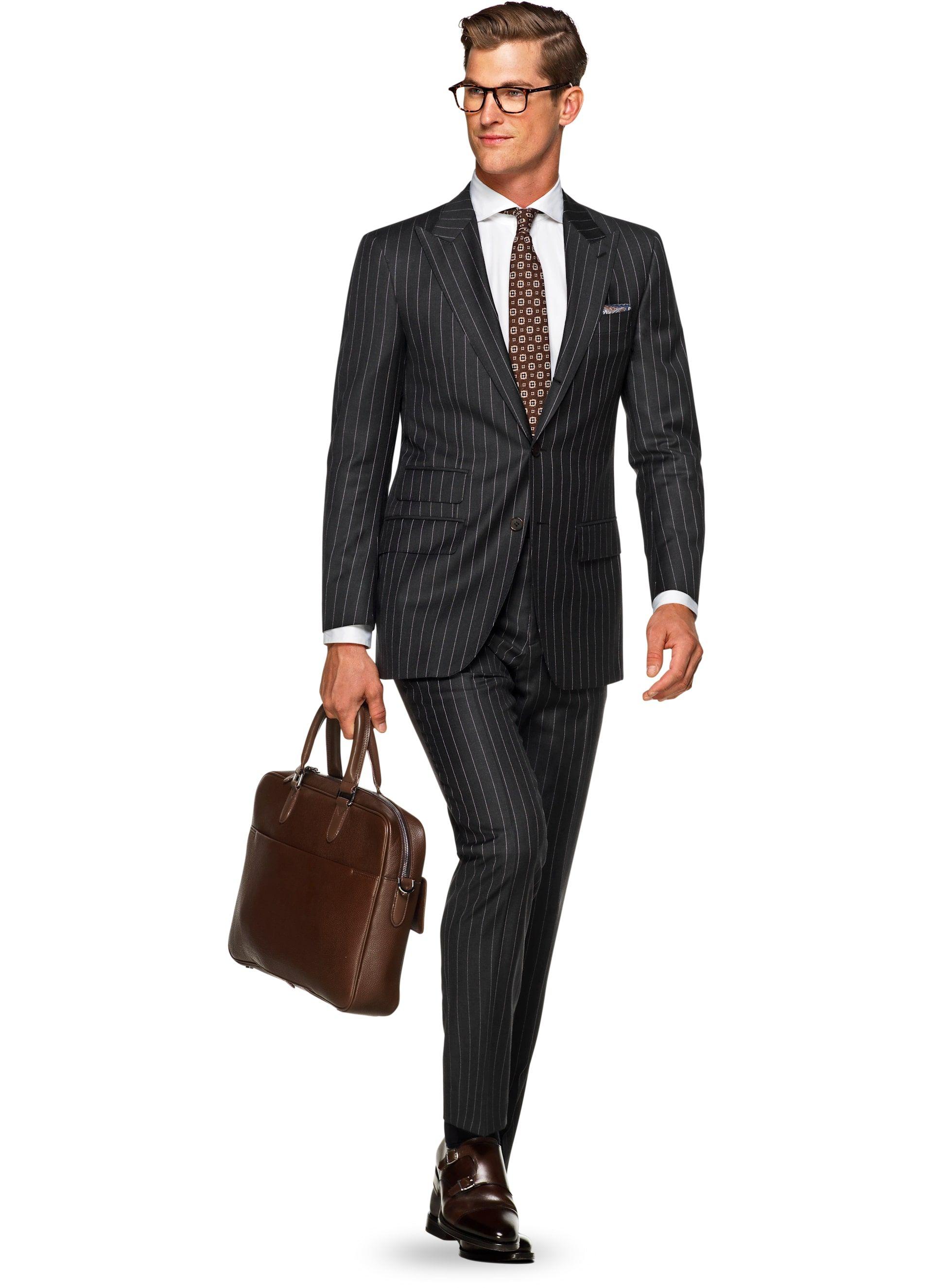 Anzug Grau Streifen Washington P5298 | Suitsupply Online