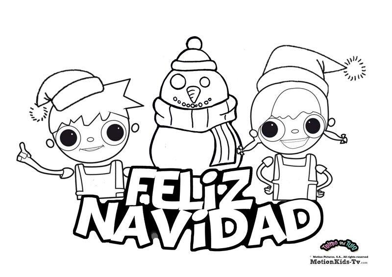 Feliz navidad pinta, dibujos colorear navidad   Dibujos para ...