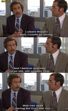 Anchorman Diversity Quote Memes Best Movie Quotes Badass Movie