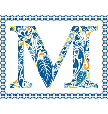 Blue letter m vector by nahhan on VectorStock®