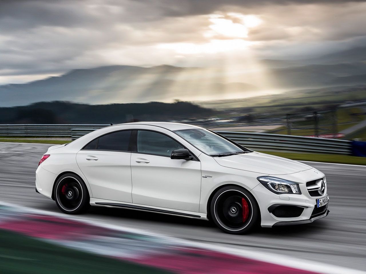 Epic shot of the new mercedes benz cla45 amg