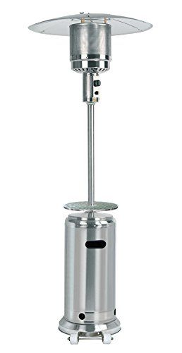 Propane patio heater with table Garden Treasures Az Patio Tall Stainless Steel Propane Patio Heater With Table And Wheels 87 Pinterest Az Patio Tall Stainless Steel Propane Patio Heater With Table And