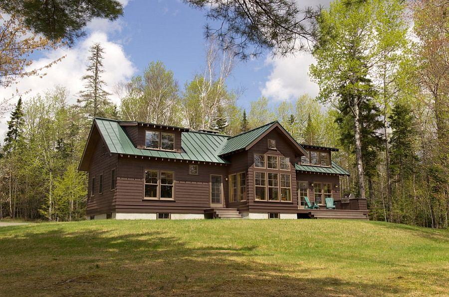 rustic exterior of the maine lake cabin retreat decoist on lake cottage interior paint colors id=36409