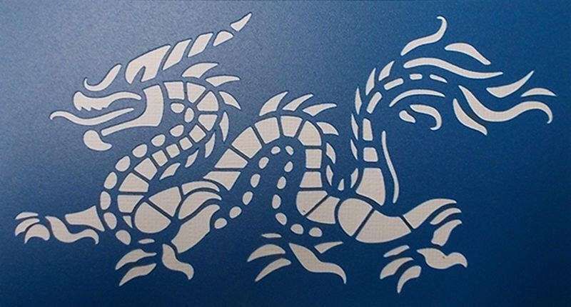 Dragon Flying Mylar AIRRUSH Painting Wall Art Stencil