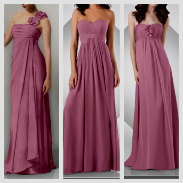 Different colors, but I love different bridesmaids dresses!