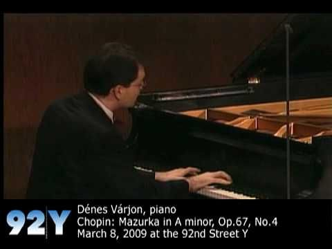 7517ac48c30 Dénes Várjon performs Chopin  Mazurka in A minor