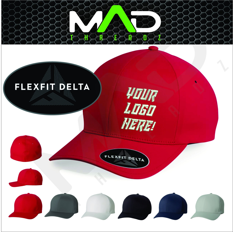 Personalized Flexfit Delta Hat Flexfit Custom Embroidery Etsy Flexfit Custom Embroidered Hats Custom Hats