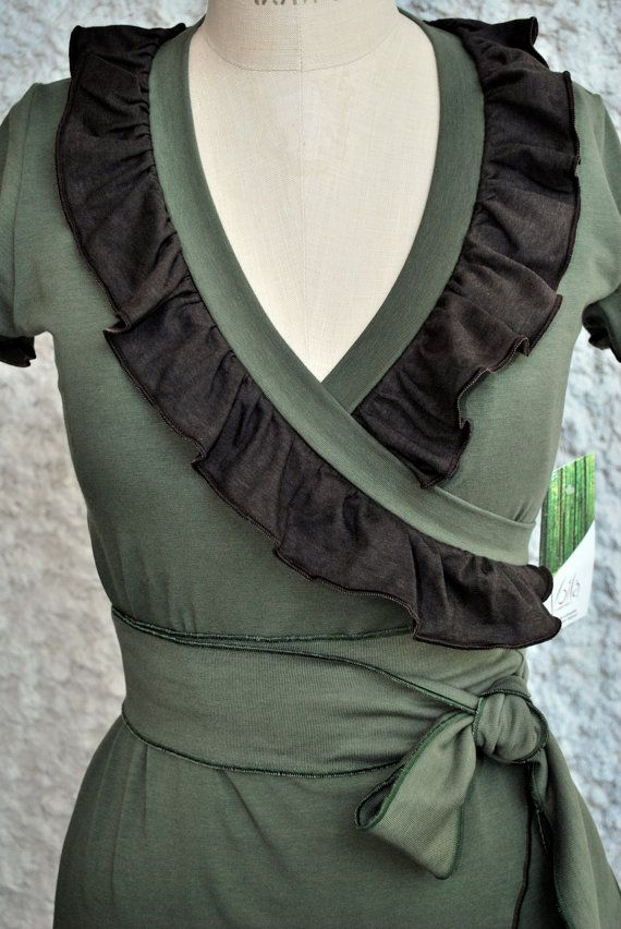 20 off New SS2011 Bamboo Carmelle Wrap Dress by VoilaAndreanne, $112.00