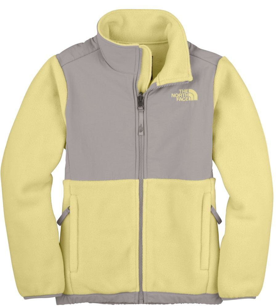 a8a340510 The North Face Denali Fleece Jacket Womens Yellow/Gray Size Large ...