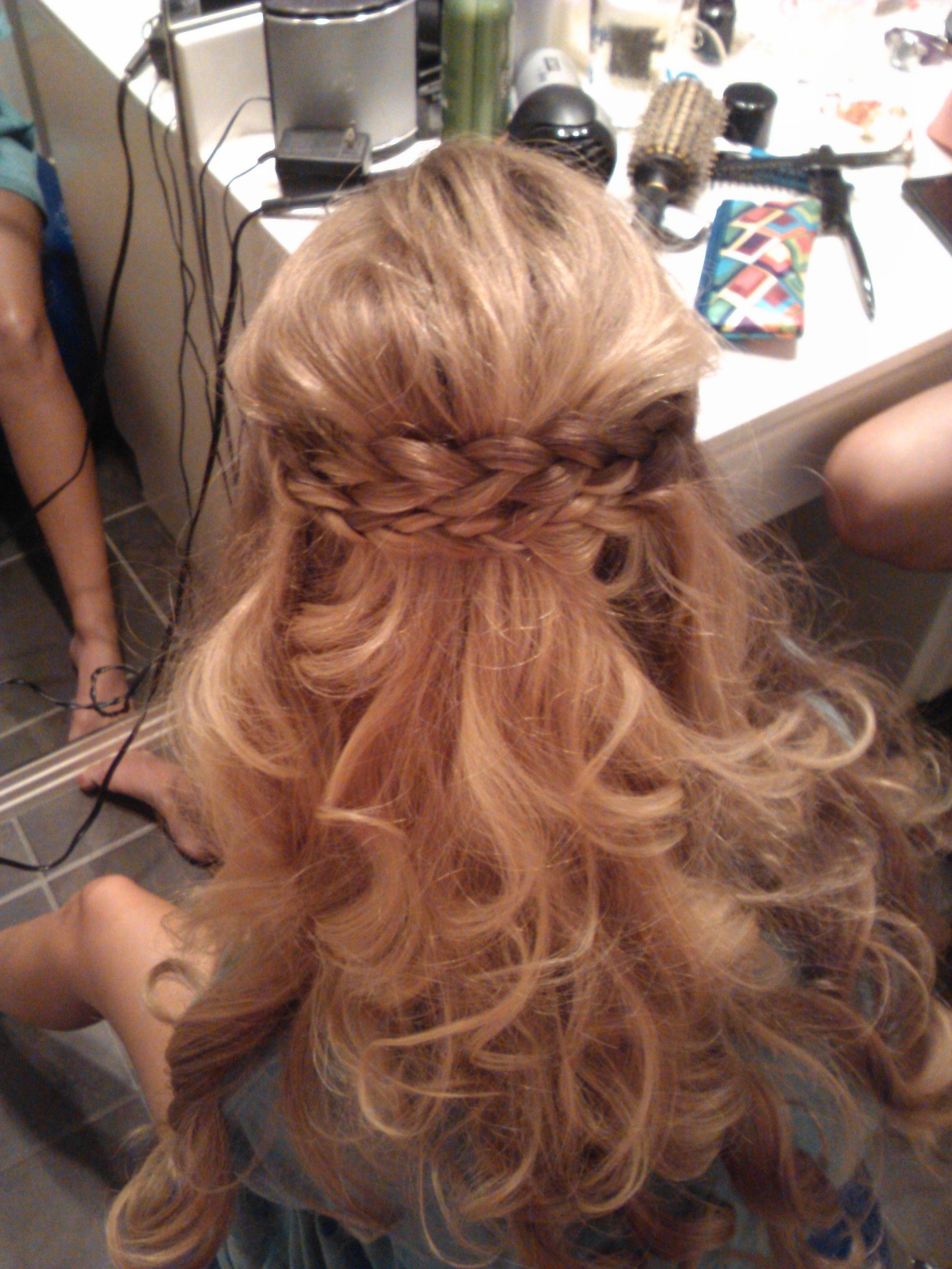 Love this I did it to my friends hair for prom I teased her crown