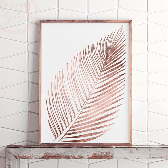 Pink Gold Wall Decor Rose Gold Foil Print Rose Gold Printable