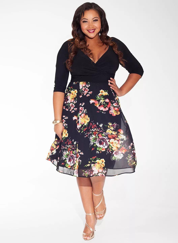 модные платья с цветочным принтом 54 размера: 25 тыс ...