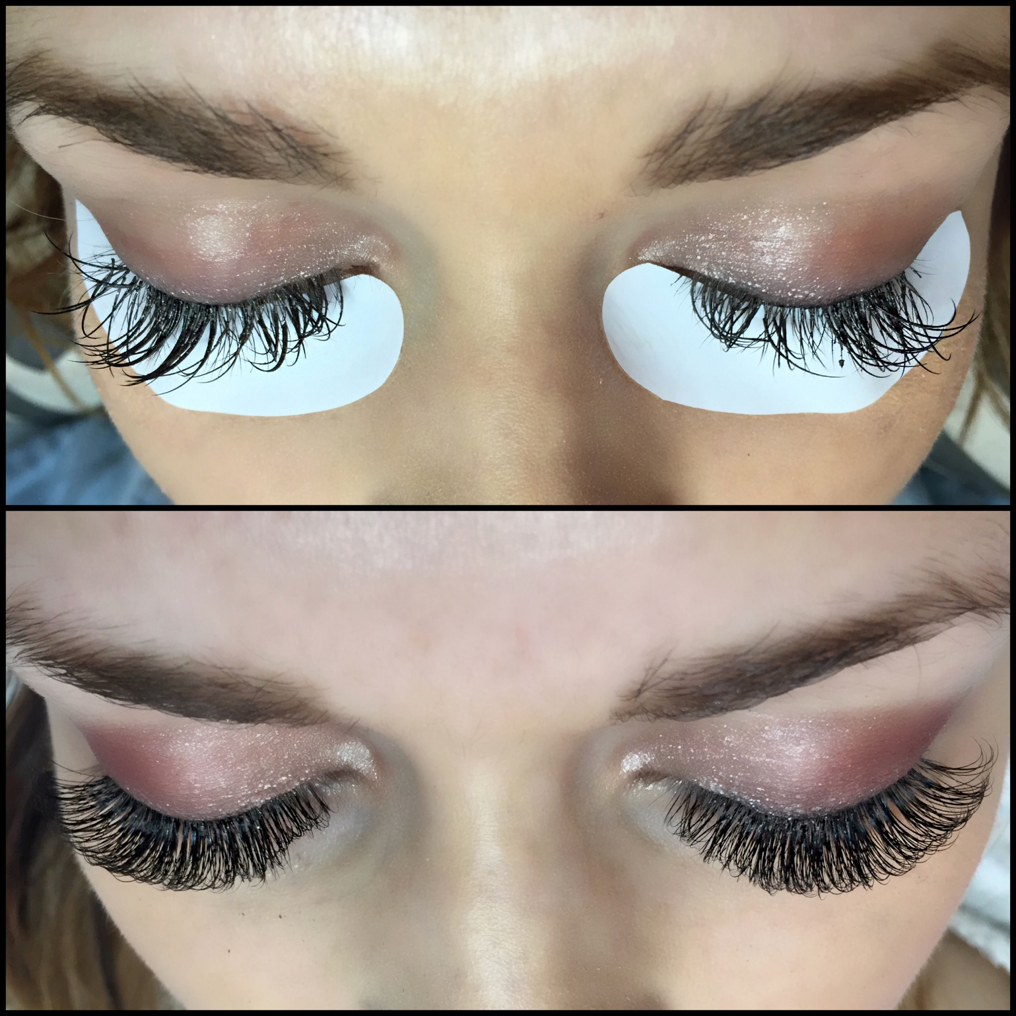 d9a55f33945 BEFORE AND AFTER! What an amazing improvement good eyelash extensions make  - http:/