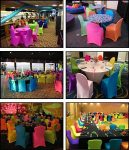 Superior Neon Spandex Chair Covers