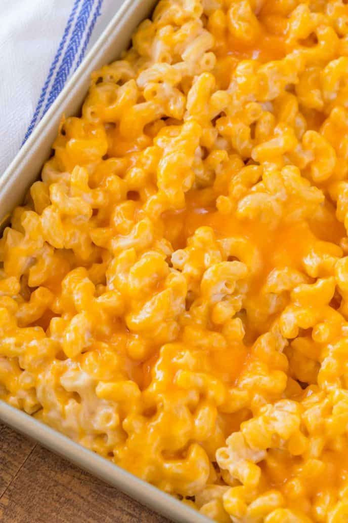 Baked Mac and Cheese is the ultimate side dish for any meal made with three cheeses, this classic i
