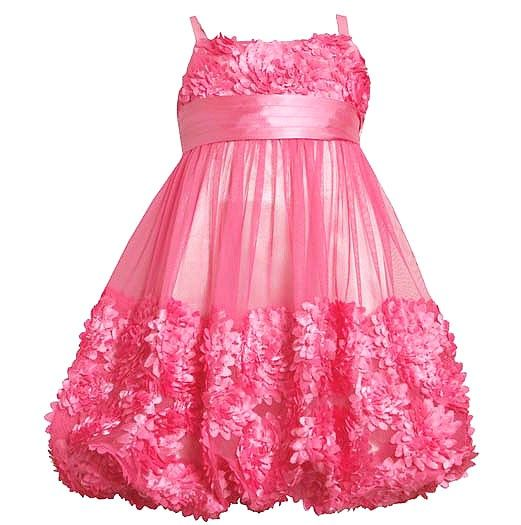 Girls Party Dresses 7-16 | ... .com/bonnie-jean-rose-pink-flower ...