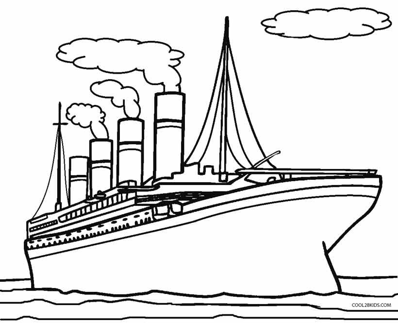 Printable The Titanic Nowadays 350 Ft Below The Water Surface Dover Publications Coloring Books Kids Discover
