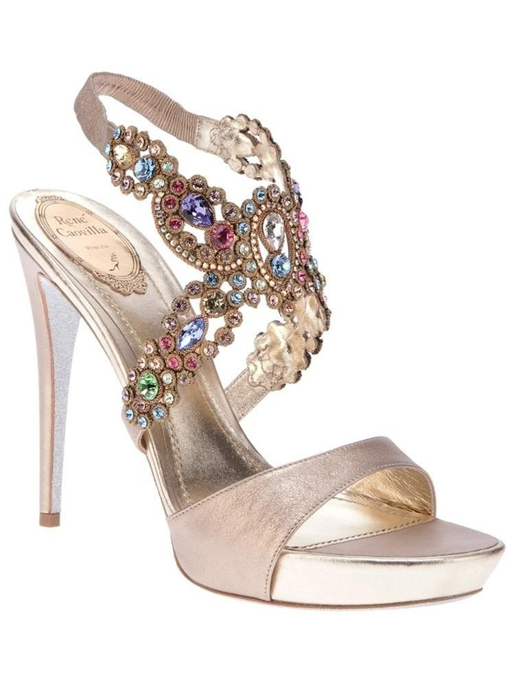Pin By Regina Hertz On Shoes Boots Delicious Heels Embellished Sandals Fashion Shoes