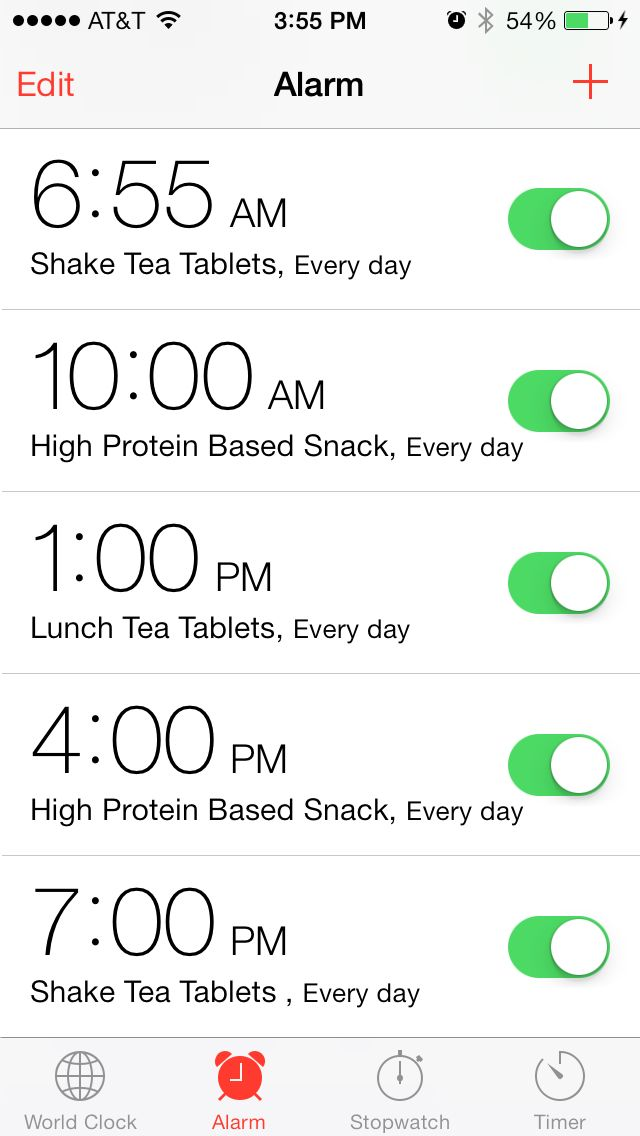 Setting alarms to help you stay on track with your meal plan! It ...