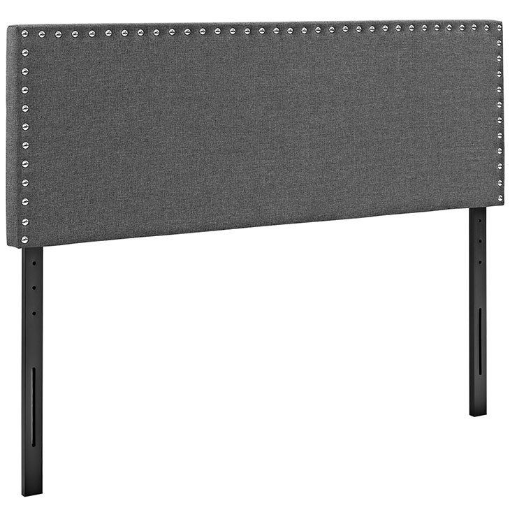 Modern Upholstered Padded Fabric,Vinyl Large Silver Nailhead Button ...