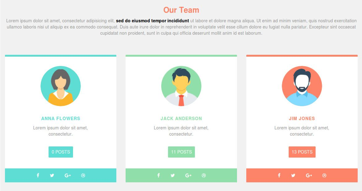 Our Team Section Layout Design In Bootstrap Layout Design Box Design Design