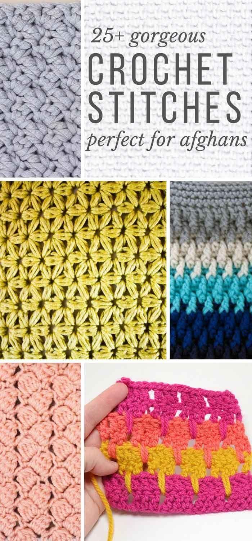 25+ Crochet Stitches For Blankets and Afghans | Eine rose, Körbchen ...