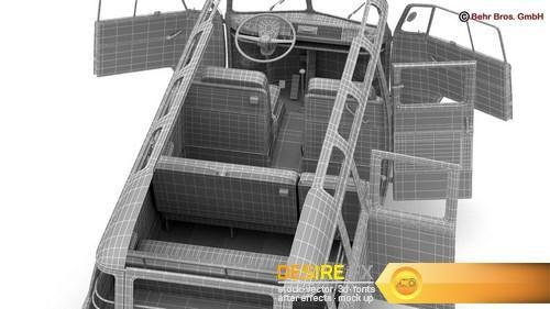 Volkswagen T1 Samba HIPPIE 1963 3D Model  http://www.desirefx.me/volkswagen-t1-samba-hippie-1963-3d-model/