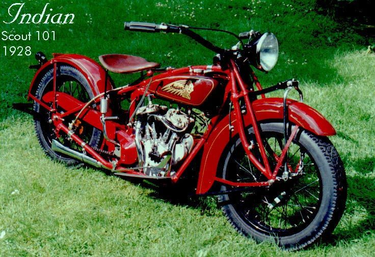 1928 INDIAN SCOUT MODEL 101 VINTAGE MOTORCYCLE POSTER PRINT 16x24 9MIL PAPER