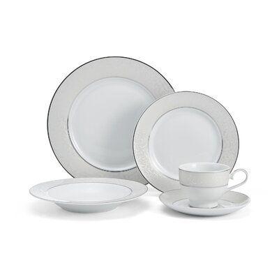 Mikasa Parchment 40 Piece Dinnerware Set Service For 8