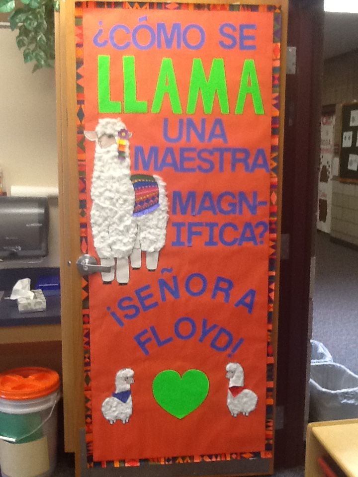 Language Classroom Decoration Ideas ~ Teacher appreciation door decoration poster spanish dli