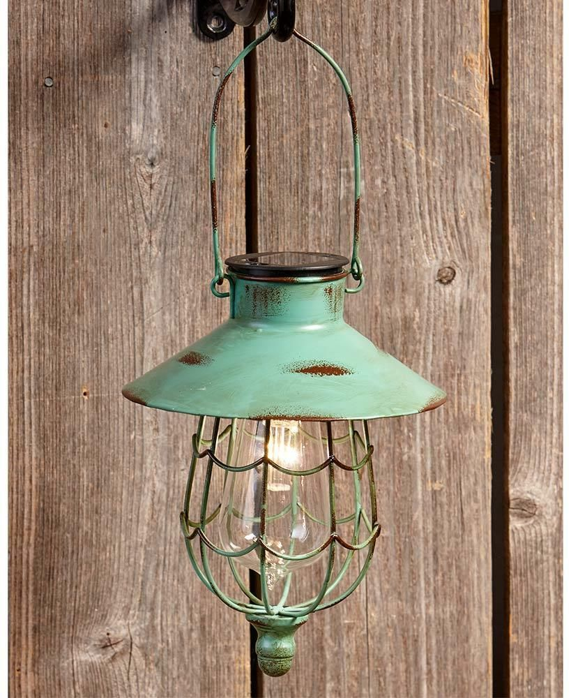 Green Rustic Solar Hanging Lantern Garden Outdoor Lawn Decor Led Lamp Lights Solar Lamp Ide Solar Hanging Lanterns Hanging Solar Lights Solar Light Crafts