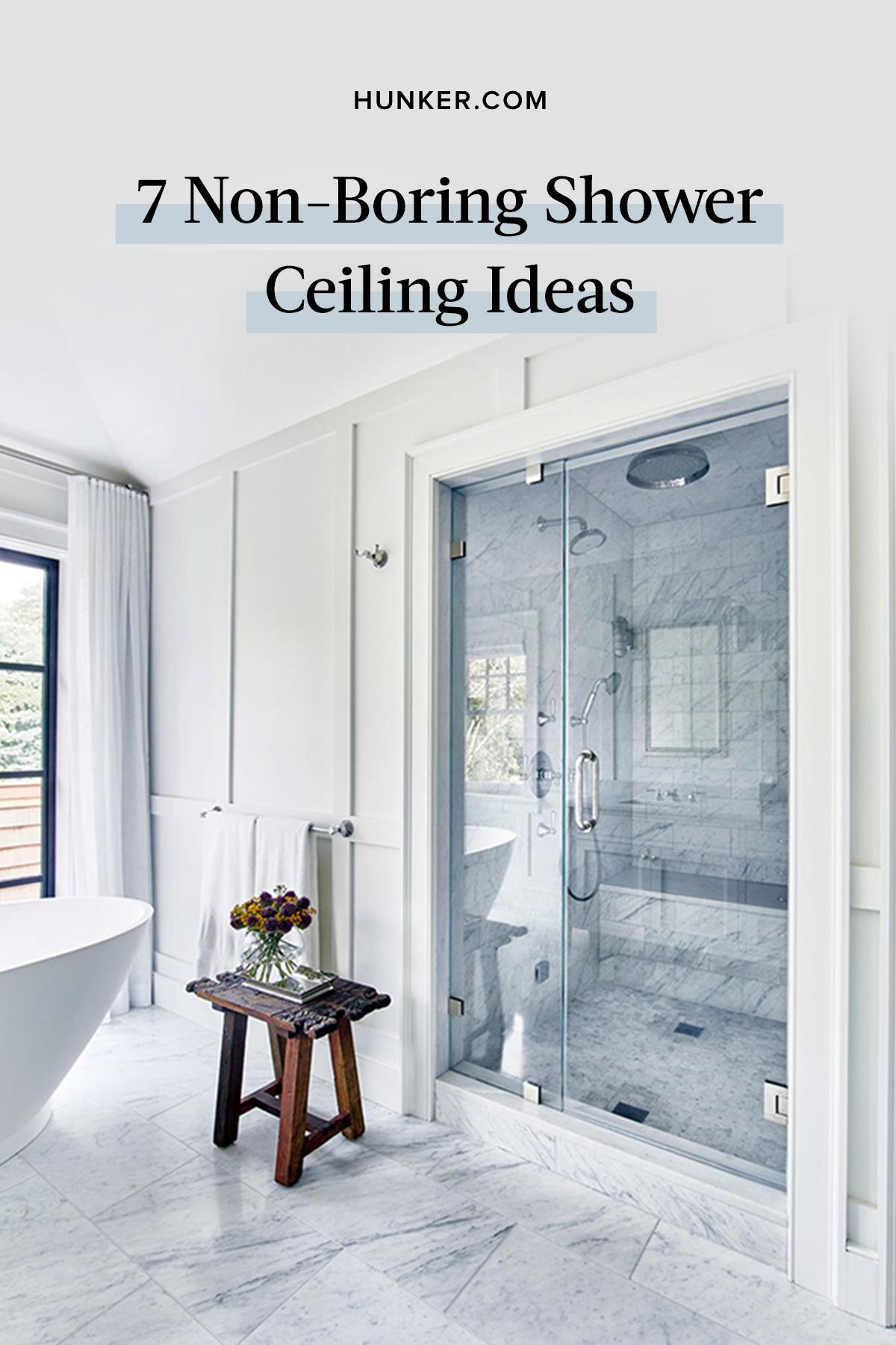 7 Non Boring Shower Ceiling Ideas Hunker In 2020 Shower