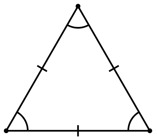 Equilateral Triangle All Sides Are The Same And All Angles Are The Same Angle Must Equal 60 Degrees Triangle Mathematics Art Geometry