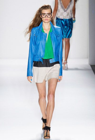 Blue Biker Jacket Trend for Spring   Summer 2013 Tracy Reese Spring Summer 2013  #Fashion #Trends